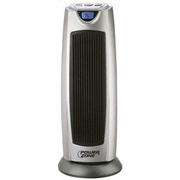 Simple Spaces KPT-2000BN Ceramic Tower Heater, 12.5 A, 120 V, 750/1500 W, 1500W Heating, 2-Heat Setting, Grey