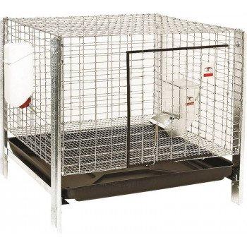 Pet Lodge RHCK1 Rabbit Hutch Kit, 24 in W, 24 in D, 16 in H, Steel, Galvanized