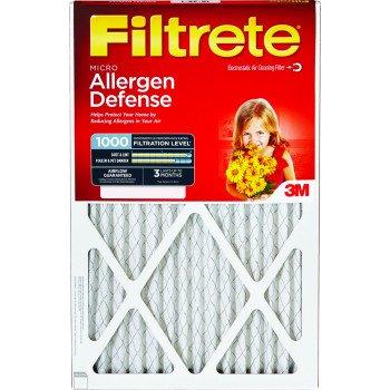 Filtrete 9820DC-6 Washable Air Filter, 24 in L, 12 in W, 11 MERV, 90 % Filter Efficiency, Cardboard Frame, White