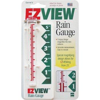 EZView 820-0188 Rain Gauge, 5 in Measuring, Glass