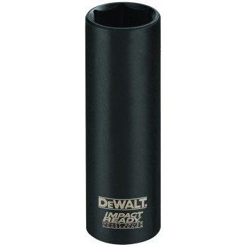 DeWALT Impact Ready DW22882 Impact Socket, 5/8 in Socket, 1/2 in Drive, Square Drive, 6 -Point, Steel