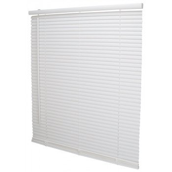 Simple Spaces PVCMB-5A Cordless Mini Blind, 64 in L, 30 in W, Vinyl, White