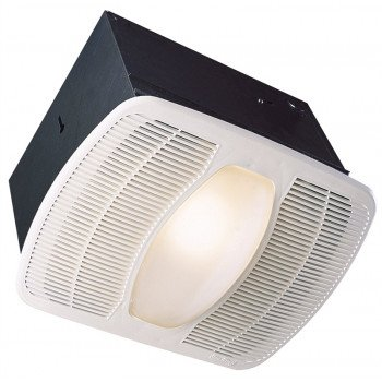 Air King LEDAK80 Exhaust Fan with Light, 0.6 A, 115/120 V, 80 cfm Air, 1 sones, LED Lamp, 4 in Duct, White