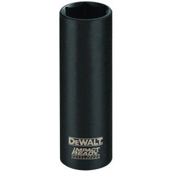 DeWALT Impact Ready DW22902 Impact Socket, 3/4 in Socket, 1/2 in Drive, Square Drive, 6 -Point, Steel