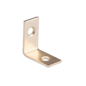 Prosource CB-S01-C4PS Corner Brace, 1 in L, 1 in W, 1/2 in H, Steel, Bright Brass, 1.8 mm Thick Material