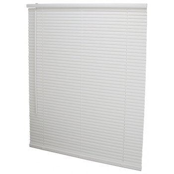 Simple Spaces PVCMB-9A Cordless Mini Blind, 64 in L, 34 in W, Vinyl, White