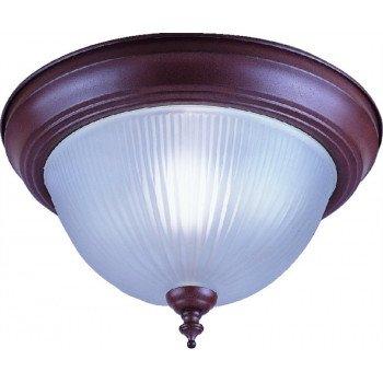 Boston Harbor RF04 Single Light Flush Mount Ceiling Fixture, 60 W, CFL Lamp, Sienna
