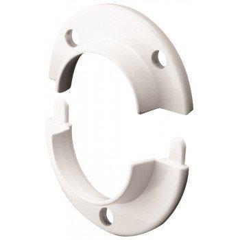 Prime-Line N 7050 Closet Pole Socket, Zinc, White, Painted