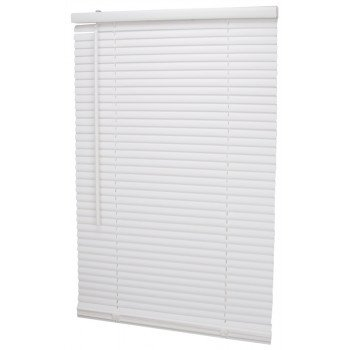 Simple Spaces PVCMB-3A Cordless Mini Blind, 64 in L, 27 in W, Vinyl, White