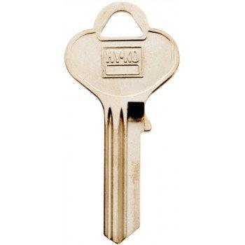 HY-KO 11010T7 Key Blank, Brass, Nickel, For: Taylor Cabinet, House Locks and Padlocks