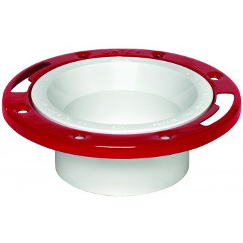 Oatey 43513 Closet Flange, 3, 4 in Connection, PVC, White, For: 3 in, 4 in Pipes