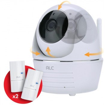 ALC AWF33-S2 Wi-Fi Camera, 90 deg View, 1080 pixel Resolution, Night Vision: 35 ft, White, Wall Mounting
