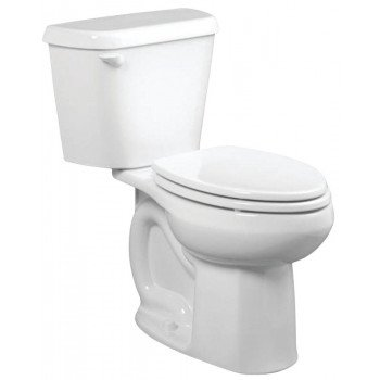 American Standard Colony 751AA001.020 Complete Toilet, Elongated Bowl, 1.6 gpf Flush, 12 in Rough-In, Vitreous China
