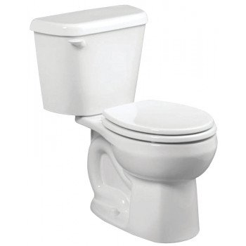 American Standard Colony 751DA001.020 Complete Toilet, Round Bowl, 1.6 gpf Flush, 12 in Rough-In, Vitreous China