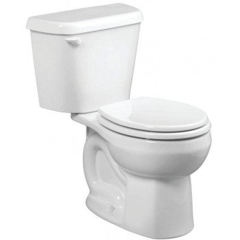 American Standard Colony 751DA101.020 Complete Toilet, Round Bowl, 1.28 gpf Flush, 12 in Rough-In, Vitreous China