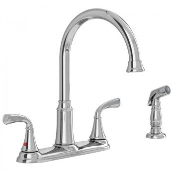 American Standard Tinley 7408400.002 High-Arc Kitchen Faucet with Side Spray, 1.8 gpm, 2-Faucet Handle, Lever Handle, Chrome