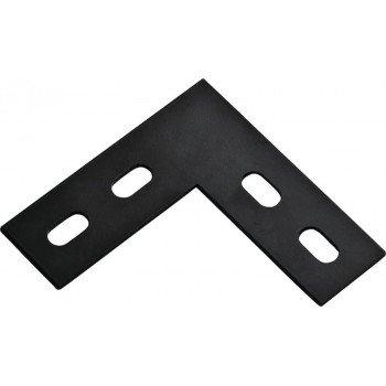 National Hardware 1175BC Series N351-504 Corner Brace, 4-1/2 in L, 1-1/2 in W, 4-1/2 in H, Steel, Powder-Coated
