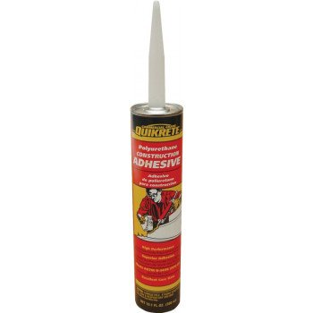 Quikrete 9902-10 Construction Adhesive, Gray, 10.1 oz Caulk Tube