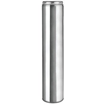 SELKIRK 206148 Chimney Pipe, 8 in OD, 48 in L, Stainless Steel
