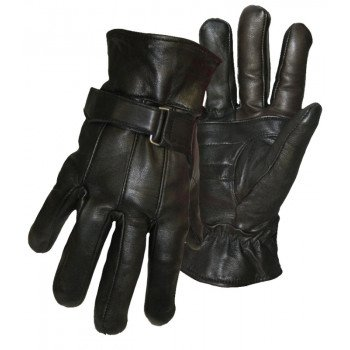 BOSS THERM 7182X Insulated Gloves, XL, Wing Thumb, Self-Hemmed Cuff, Grain Sheepskin Leather Palm