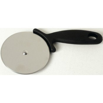 CHEF CRAFT 21370 Pizza Cutter, Stainless Steel Blade, Black Handle, Dishwasher Safe: Yes